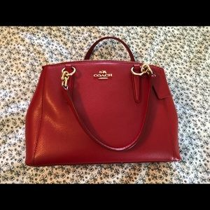 Mini Christie Crossgrain Leather Carryall Satchel